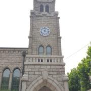 성당 종탑 시계설치
